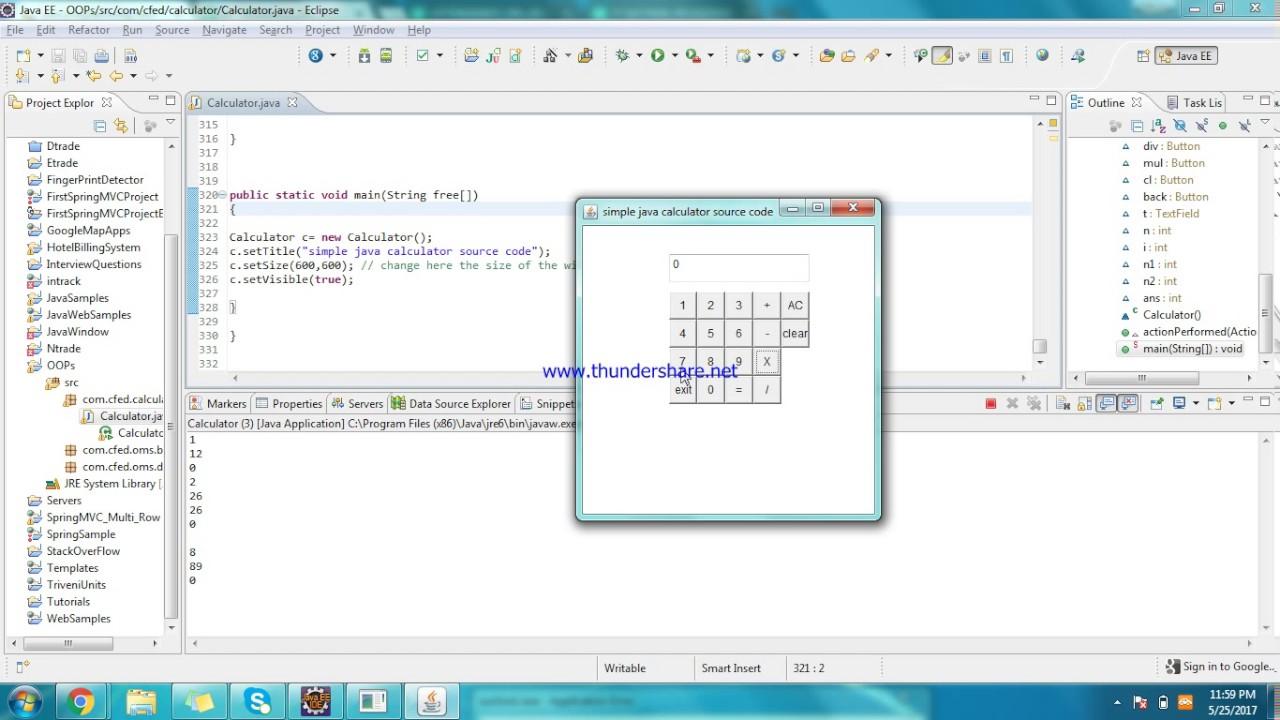 Java calculator full source code simple youtube.