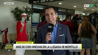 Masiva presencia de hinchas de la U recibieron a Walter Montillo en el aeropuerto de Santiago