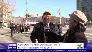 PHÓNG SỰ CỘNG ĐỒNG: Ngày Quốc Tế Nhân Quyền lần thứ 70 tại New York