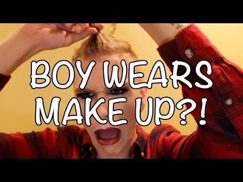 Boy Wears His First Full Face of MakeUp | Thomas Costello