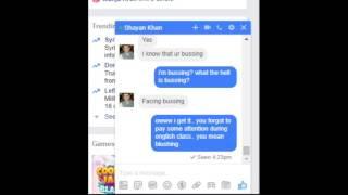 Pervert facebook chat