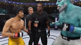 Bruce Lee vs. Yeti (EA sports UFC 3)