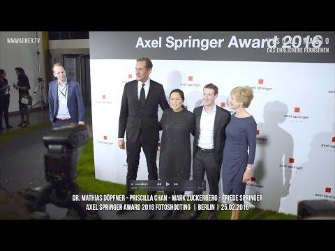 Fotoshooting Axel Springer Award - Döpfner - Zuckerberg - Chan - Springer
