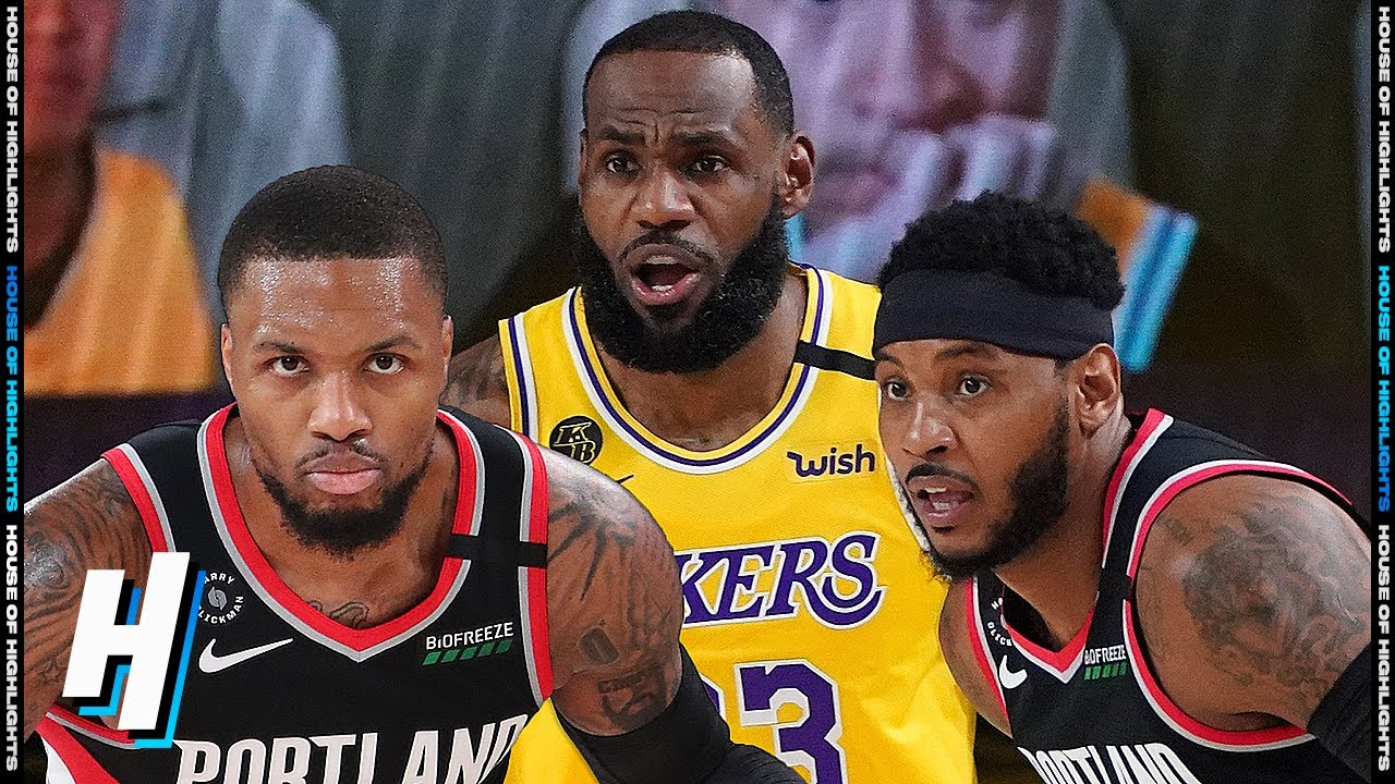 Portland Trail Blazers Vs Los Angeles Lakers Full Game 1 Highlights August 18 2020 Nba Playoffs Youtube