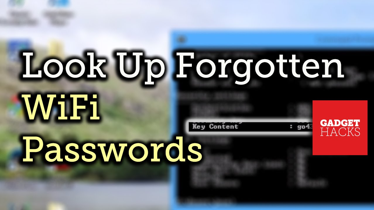 How to Recover Forgotten Wi-Fi Passwords in Windows