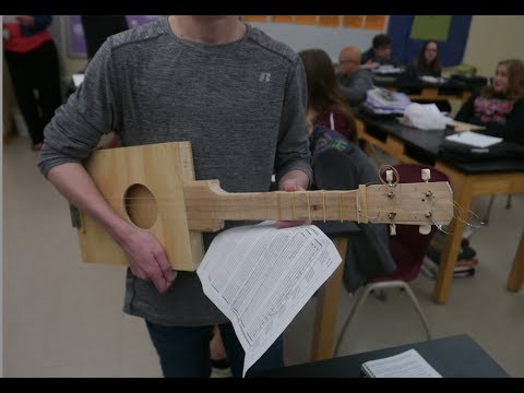 Student Musical Instrument Projects //  Homemade Science with Bruce Yeany