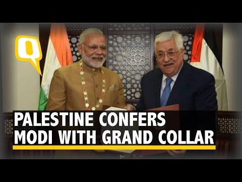 PM Modi Conferred With The Grand Collar of The State of Palestine | The Quint