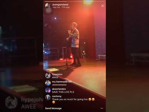 JOHNNY ORLANDO SHOWS HIS INCREDIBLE VOICE IN DUBLIN (Never Let You Go - Justin Bieber)