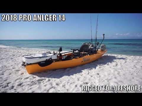 Hobie Pro Anlger 14 Rigged For Offshore Kayak Fishing PCB