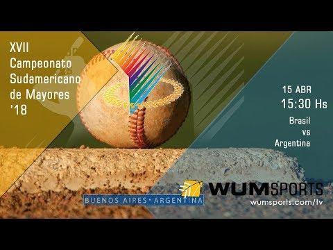Béisbol Sudamericano Mayores '18: Brasil vs Argentina