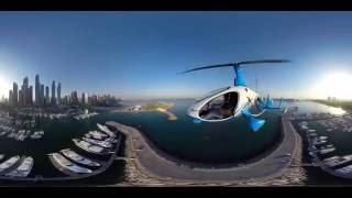 Skyhub Dubai, Gyrocopter - 360 video