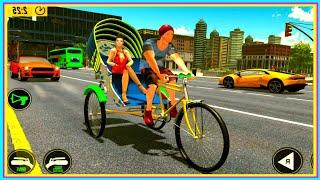 Bicycle Tuk Tuk Auto Rickshaw : New Driving Games Android Gameplay HD screenshot 3