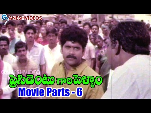 President Gari Pellam Movie Parts 6/12 - Akkineni Nagarjuna, Meena - Ganesh Videos
