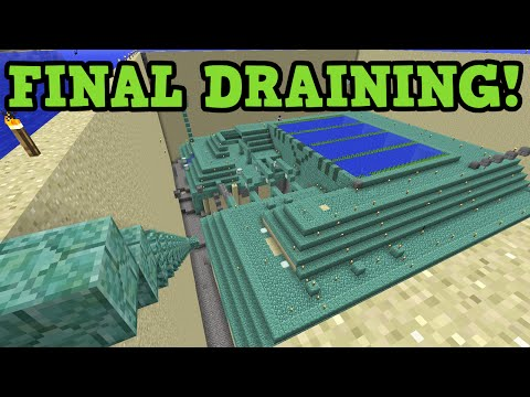 Minecraft Ocean Monument Drain in Survival FINALE