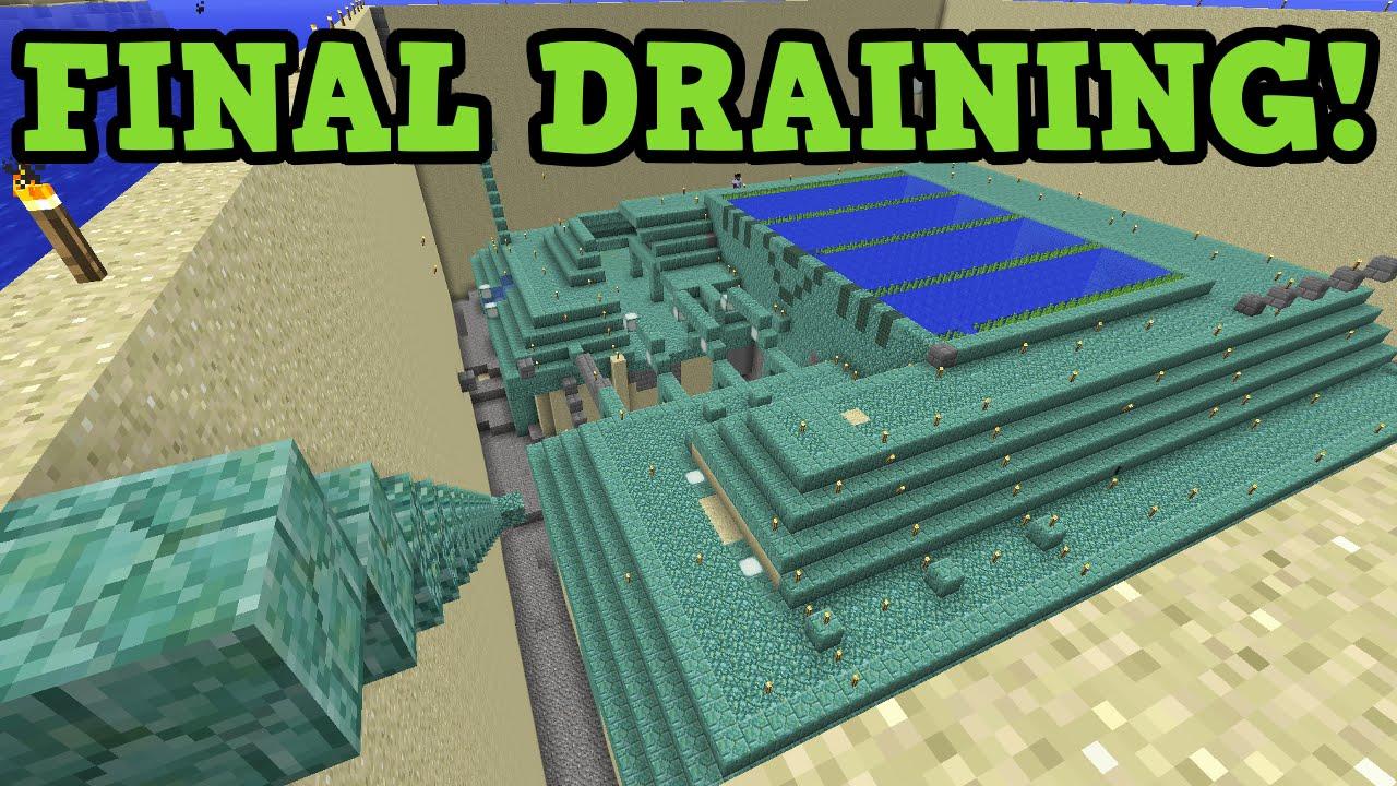 Minecraft Ocean Monument Drain In Survival FINALE YouTube
