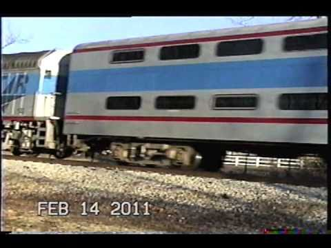Music City Star Cab Car 400 and Music City Star F40PH 122 ex Amtrak 399 With Nathan K5LA Action