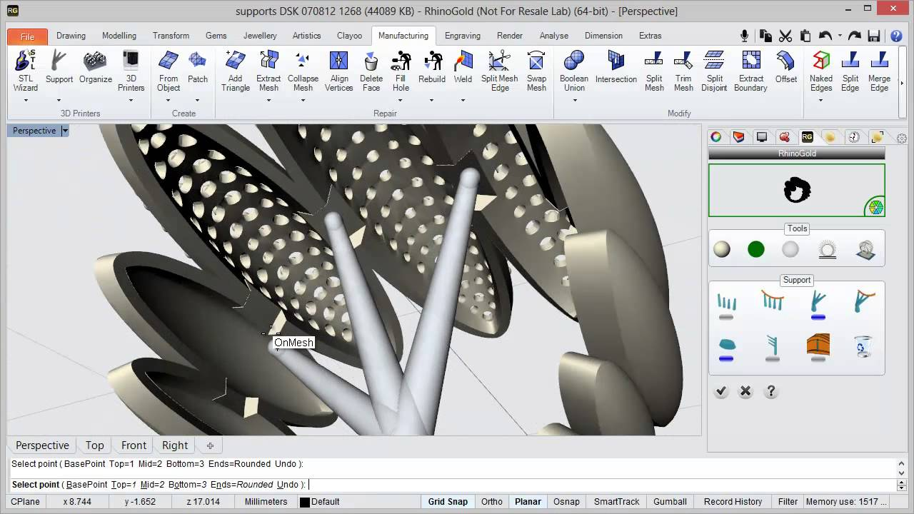 RhinoGold 4 0 Support Tool - Video