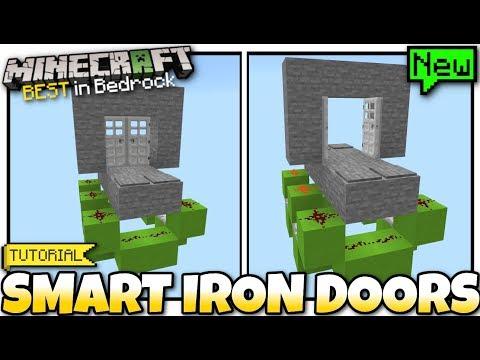 Minecraft - SMART IRON DOORS [ Redstone Tutorial ] MCPE / Bedrock / Xbox / Switch