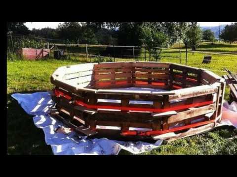 Бассейн из поддонов на даче своими руками. Строительство бассейнов.