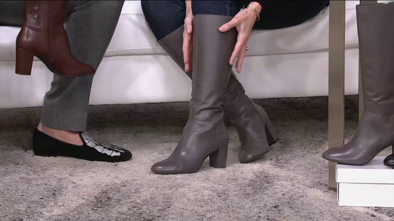 H by Halston Leather Tall Shaft Heeled