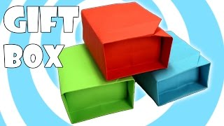 Diy: Paper Origami Gift Box With Lid Instructions