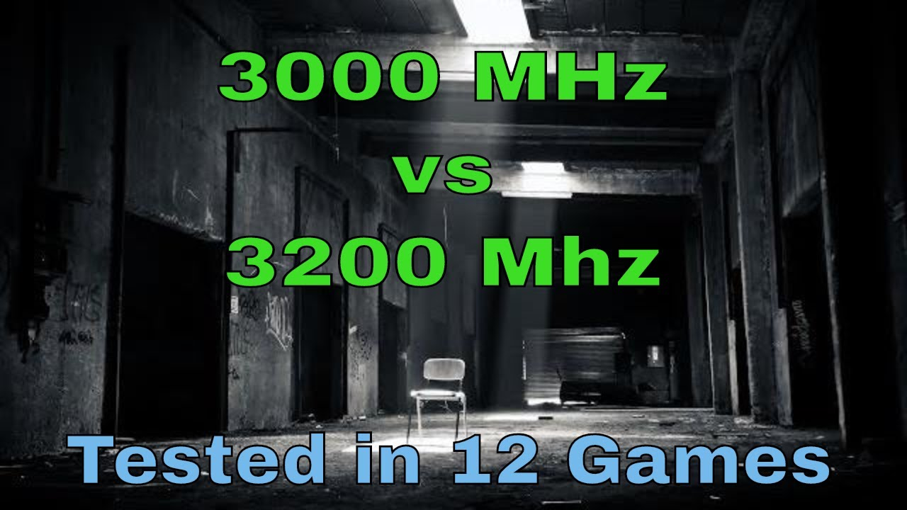 3000MHz vs 3200MHz ddr4 RAM , Gaming Test