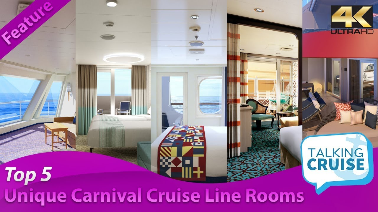 Top 5 Most Unique Rooms On Carnival Cruise Line Youtube
