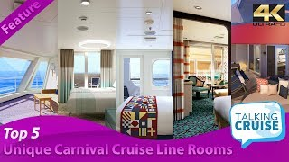 Top 5: Most Unique Rooms on Carnival Cruise Line (2019)