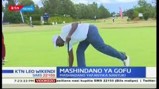 Wachezaji walijumuika pamoja na  kushiriki katika mashindano ya mchezo  wa Gofu