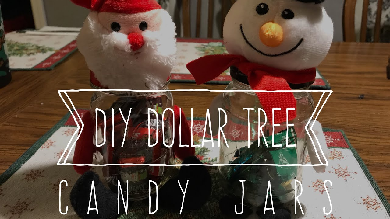 Diy Dollar Tree Candy Jar Youtube