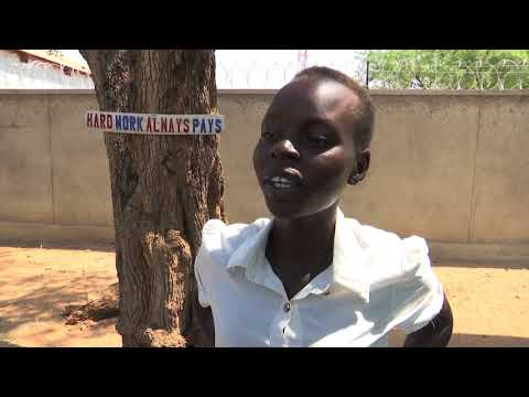 Students living in UN protection sites sit final primary school exams