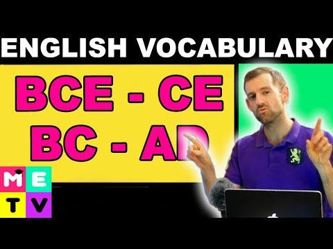 English Vocabulary | BC, AD, BCE, CE