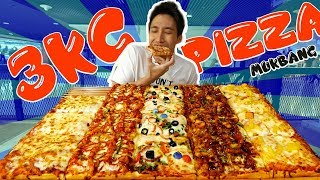 Giant Party Size Pizza Mukbang!