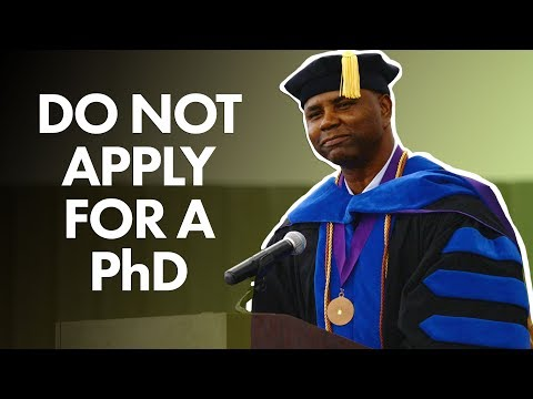 Why you shouldnt apply for a PhD