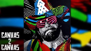 """The Colorful Complexity of """"Macho Man"""": WWE Canvas 2 Canvas"""