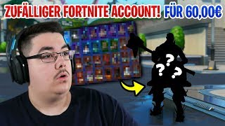😮 I BOUGHT a RANDOM Fortnite ACCOUNT for 60€ and got the...
