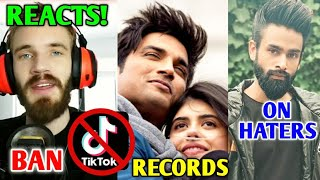 PewDiePie On Tik Tok Ban & Reacts To Hindi Memes | Dil Bechara Records, Amir Siddiqui, Flying Beast
