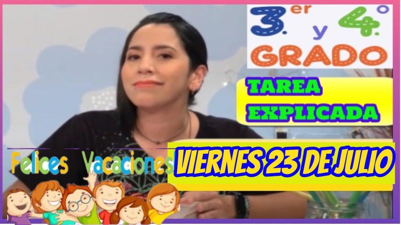 🥰3ro y 4to Secundaria👧/ VIERNES 23 DE JULIO / Tv Peru EN Vivo / Aprendo en casa.