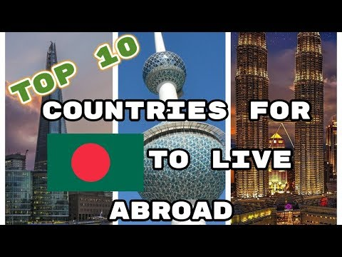 The Top 10 Countries for Bangladeshis To Live Abroad (by population)