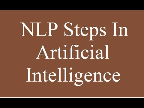 NLP steps in AI | Natural language processing