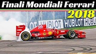 Ferrari F60 Formula 1 Show! - Genè, Fisichella, Bertolini & Rigon - Finali Mondiali Ferrari 2018