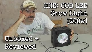 hhe 64x3w cob led 200w grow light unboxing review