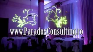 iluminat ambiental nunta Arad www.ParadoxConsulting.ro gobo monograme logo nunta