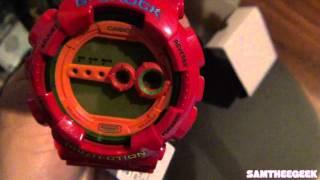Casio G-Shock Red Digital Watch Unboxing GD-100HC-4
