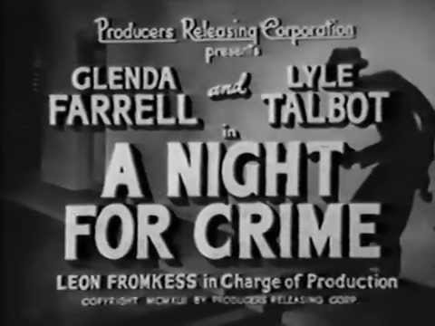 Night for Crime (1943 crime drama / full length suspense movie)