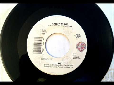1982 , Randy Travis , 1985 Vinyl 45RPM