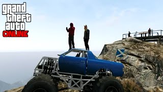 MONSTER TRUCK TRAIN RUMBLE! (GTA 5 Funny Momments)