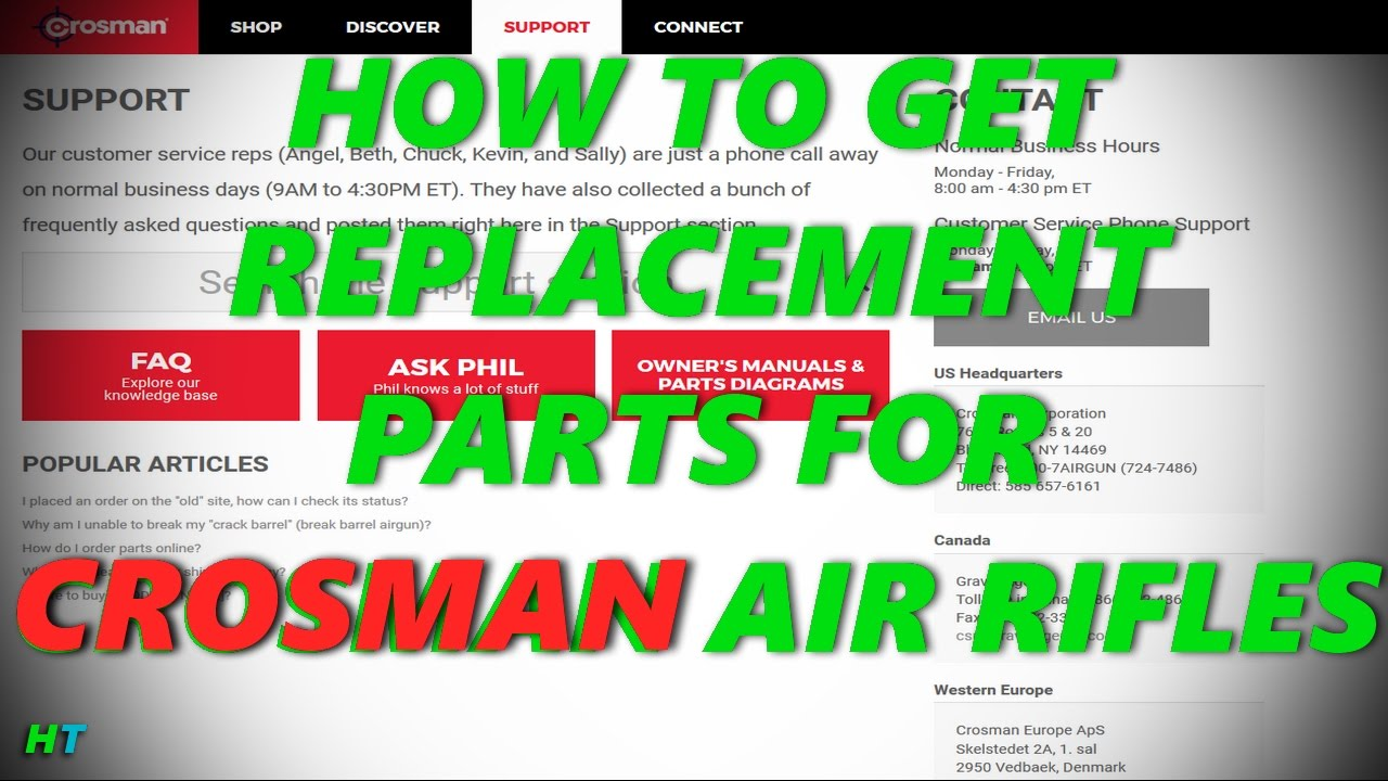 How To Get Remplacement Parts OEM For Your Crosman Air Rifle
