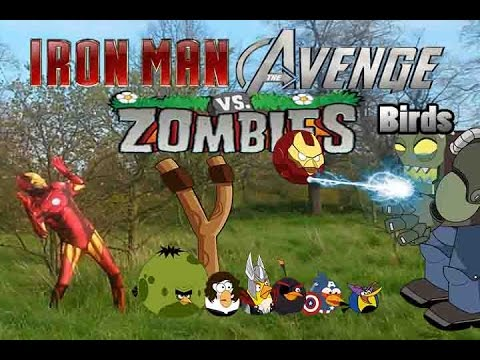 Real life Iron man And Angry Birds vs Zombies