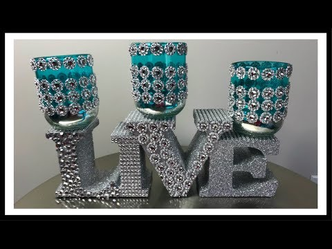 DOLLAR TREE DiY BLING CANDLE HOLDER | MOTHER'S DAY 2019 💎